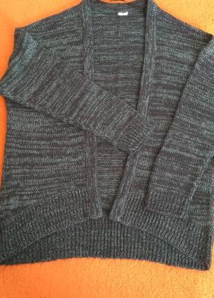 Кардиган свитер синий меланж