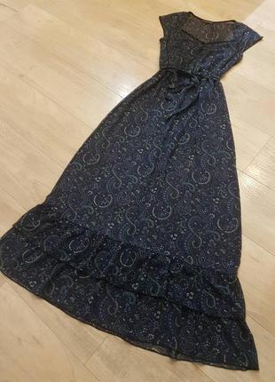 Платье макси шифон с принтом limited collection англия