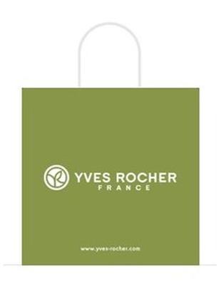 Пакет -сумка фирменный бумажный зеленый ив роше