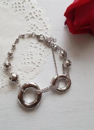 Стильный браслет, серебро 925