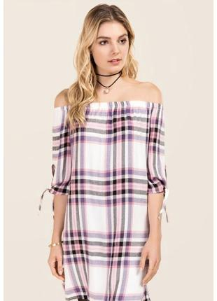 Клетчатое платье francesca's