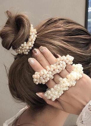 Резинки для волос с жемчужинами