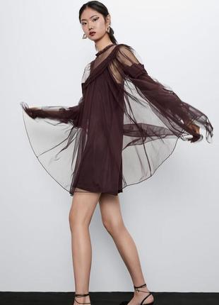 Zara новая коллекция! тюлевое платье