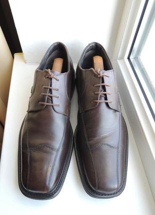 Кожаные туфли bugatti р.46