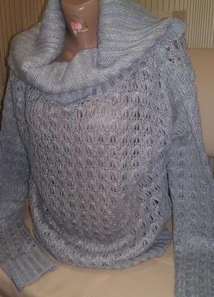 Очень красивый ажурный не весомый свитер