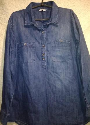 Женская джинсовая рубашка 20размер