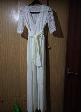 Нарядное платье в пол на свадьбу, выпускной