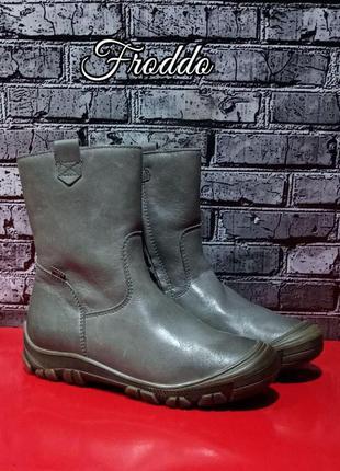 Зимние кожаные ботинки сапоги froddo
