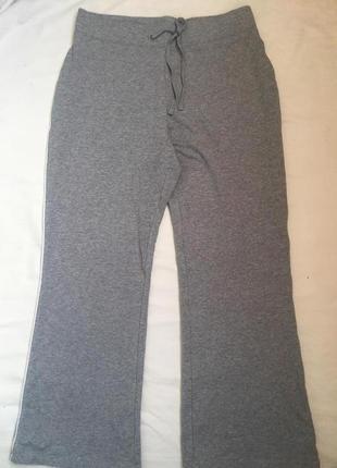 Теплые спортивные домашние брюки серые xl (50)