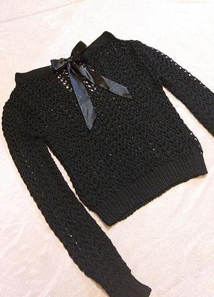 Ажурный кружевной свитер