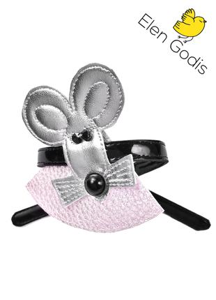 Браслет мышка/новый год/подарок/эко кожа/от дизайнера elen godis