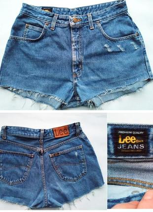 Винтажные джинсовые шорты с очень высокой посадкой lee