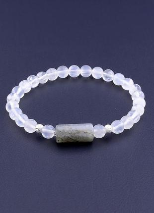 Браслет 'sunstones' лунный камень,лабрадор 17 см 0863050