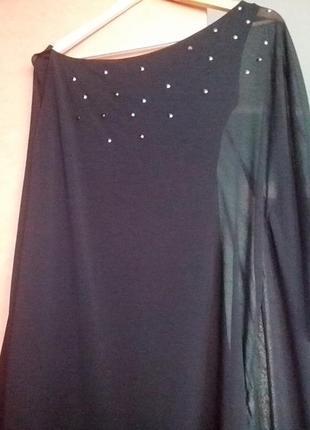 Красивое платье 🌺👑🌺 от zara на новый год.     трикотаж шифон