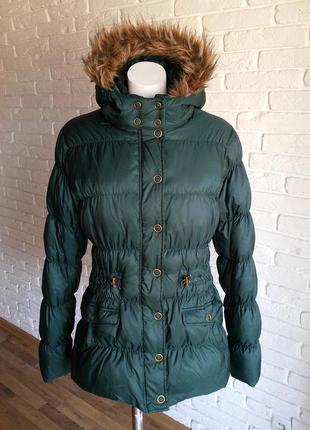 Maddison натуральный пуховик с капюшоном 100% оригинал ( пуховая куртка )