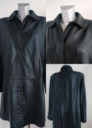 Кожаная куртка, плащ  marks&spencer из натуральной кожи