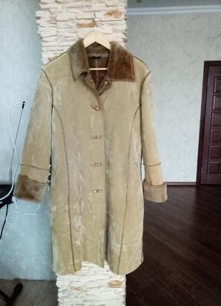 Женское пальто-дублёнка 52-54 размера