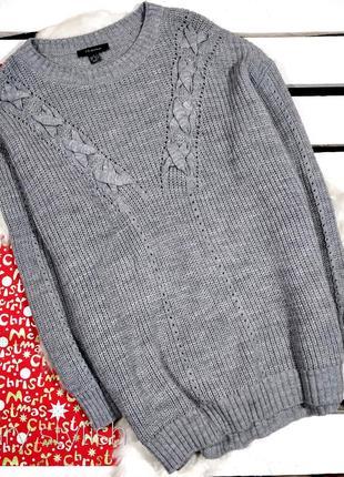 Серый свитер очень красивый и объемный primark