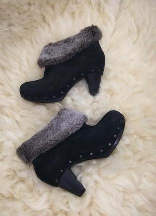 Ботинки сапоги полусапожки кожа замша замшевые