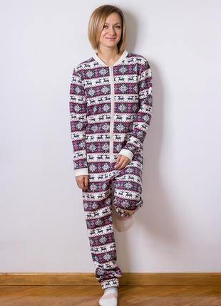 Новогодний домашний пижама комбинезон, піжама