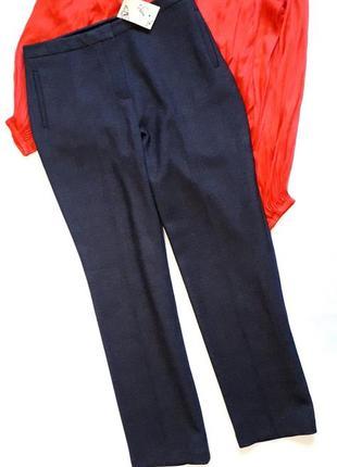 Очень теплые темно-серые брюки m-l