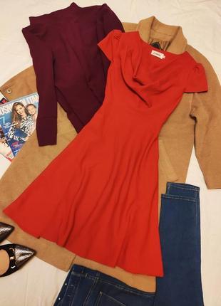Louche платье красное алое классическое пуговицы на спине
