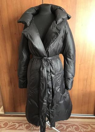 Стильное пальто-пуховик1 фото