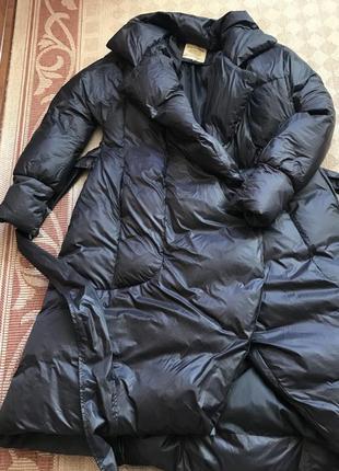 Стильное пальто-пуховик4 фото