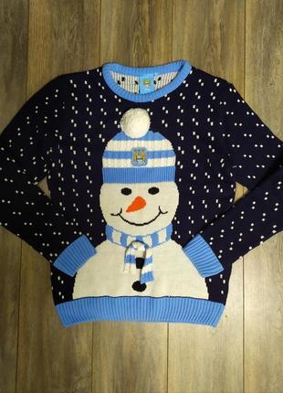Новогодний свитер, снеговик
