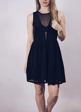 Идеальное для праздника платье с вставками на лифе h&m