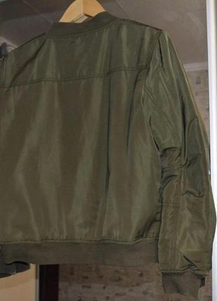 Бомбер хаки на меху, утеплённый бомбер , бомбер с мехом, куртка с мехом select3 фото