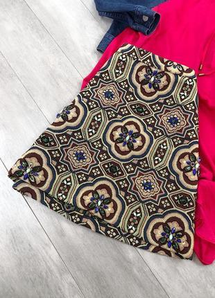 Красивая юбка с камнями topshop