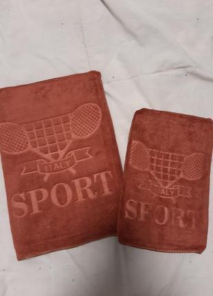 Комплект полотенец из микрофибры. * спорт * 2 шт