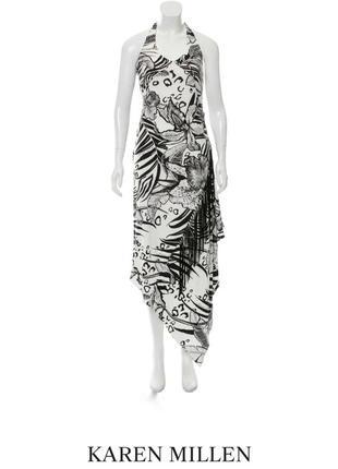 Открытое платье сарафан ассиметрического кроя от karen millen