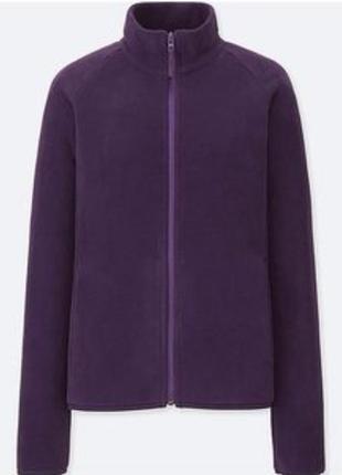 Флисовая кофта фиолетовая пурпурная uniqlo