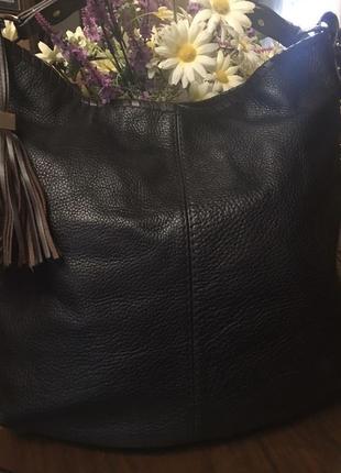 Шикарная вместительная сумка autograph англия , натуральная кожа