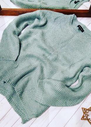 Уютный свитер пуловер джемпер крупной вязки new look