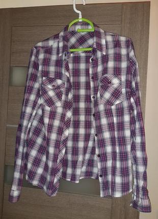 Практичная стильная рубашка terranova хлопковая