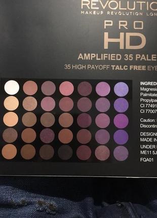 Новая запечатанная палетка makeup revolution pro hd 35