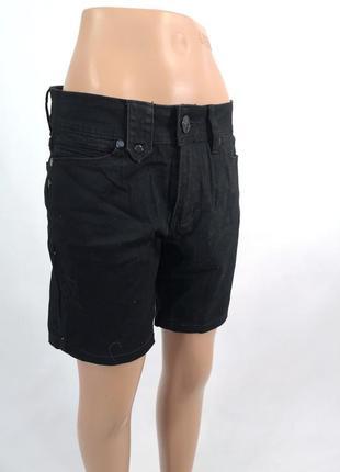 Шорты джинсовые, фирменные foi черные