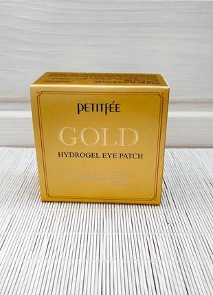 Гидрогелевые патчи для глаз с комплексом из 5 компонентов petitfee gold hydrogel