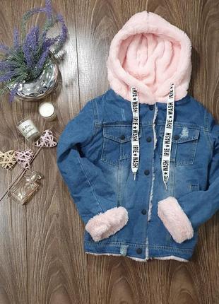 Крутая, новая джинсовая курточка на меху