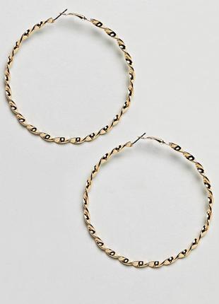 1+1=3 до 30/12 золотистые спиралевидные серьги-кольца designb london из каталога asos