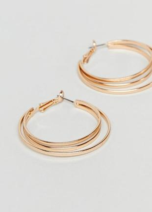1+1=3 до 30/12 двойные серьги‑кольца new look из каталога asos