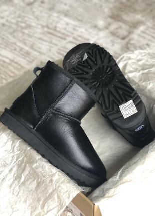 Идеальные зимние кожаные угги❄️ ugg mini leather ⛄️