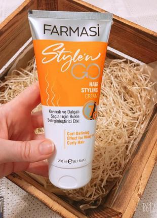 Крем-стайлинг для кудрявых волос farmasi style`n go