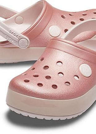 Сабо крокс с перламутром crocs ice pop clog, c11