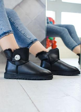 Угги ugg bailey button (натуральная кожа)