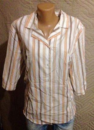 Красивая блузка размер 44 в вертикальную полоску