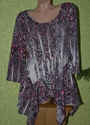Легкая цветная блуза , низ свободный